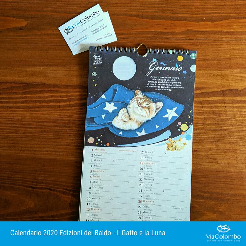 Calendario 2020 Il gatto e la luna
