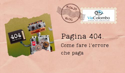 Pagina 404. L'errore che paga