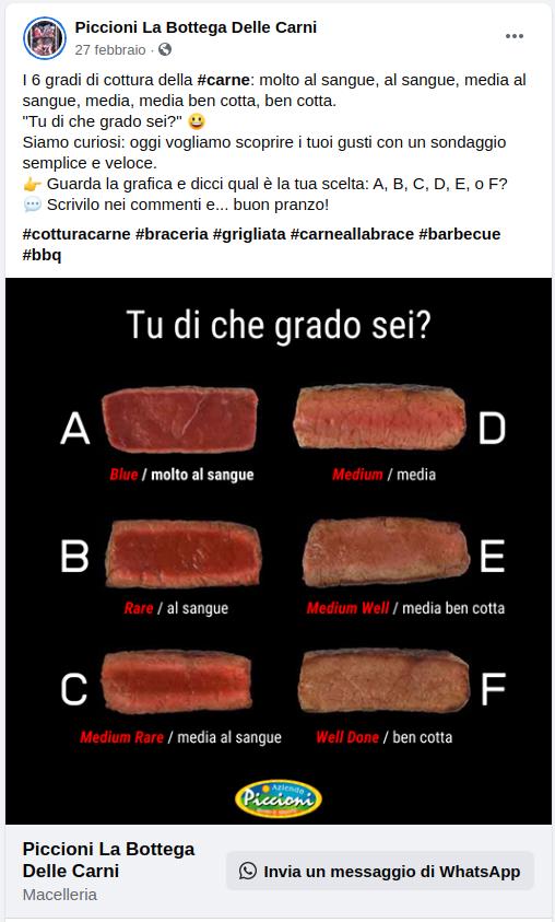 Piccioni Carni - Sondaggio