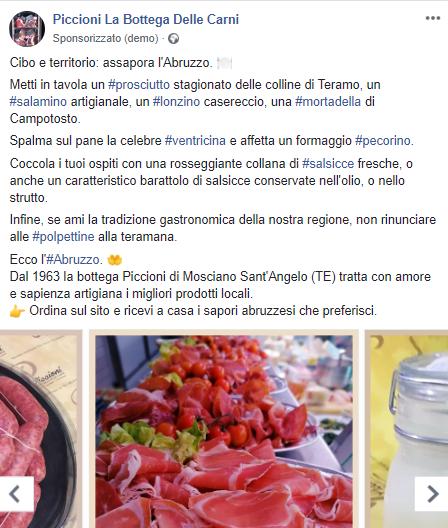Piccioni Carni - Facebook ADS